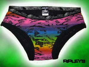 IRON FIST Ladies Pants ZEBRACORN Black Pink Green XL 14