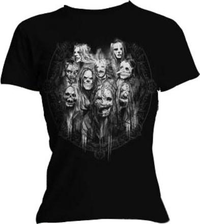Official Skinny SLIPKNOT T Shirt MIRRORS Band Face