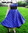 HELL BUNNY 50s VERA Purple DRESS Polka Dot Emo  Thumbnail 1