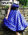 HELL BUNNY 50s VERA Purple DRESS Polka Dot Emo  Thumbnail 3