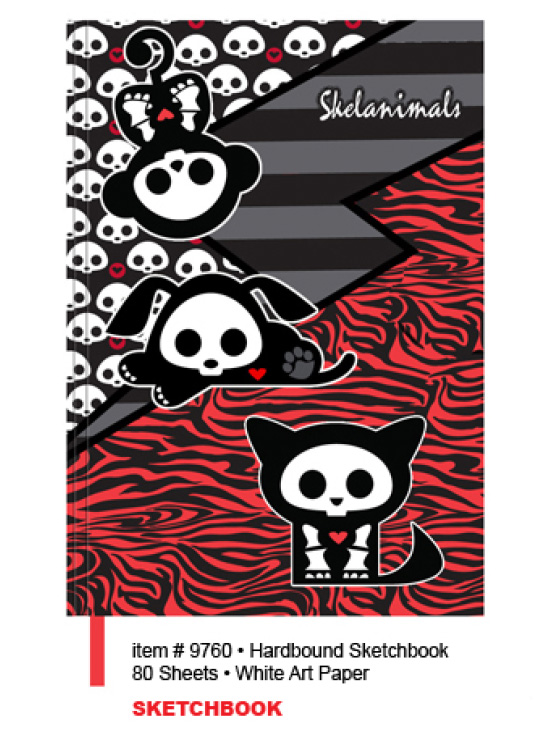 Official SKELANIMALS Note SKETCH BOOK Pad PATTERNS