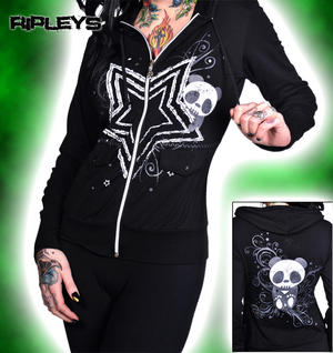 LIVING DEAD SOULS Hoody PANDA STAR Emo Goth BLACK  Preview
