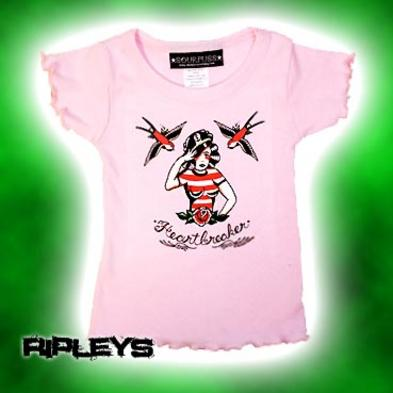 SOURPUSS Baby T SHIRT Babydoll HEARTBREAKER Pink 3 YEARS