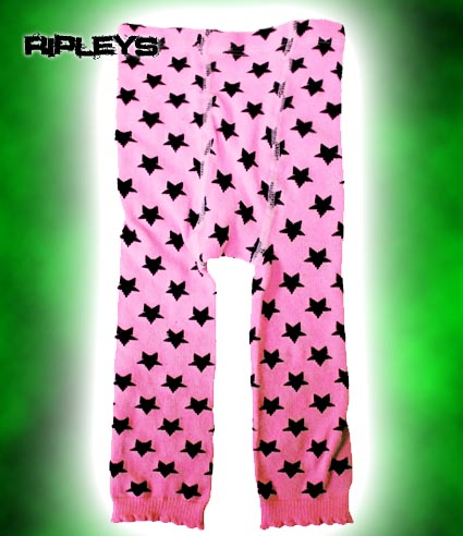 SOURPUSS Baby LEGGINGS Punk STARS Cute PINK 18-24 MONTHS