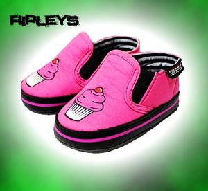 SOURPUSS Baby INFANT Slip On SHOES Pink CUPCAKE 6-12 MONTHS