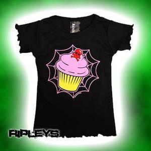 SOURPUSS Baby T SHIRT Babydoll WEBBED CUPCAKE Cute