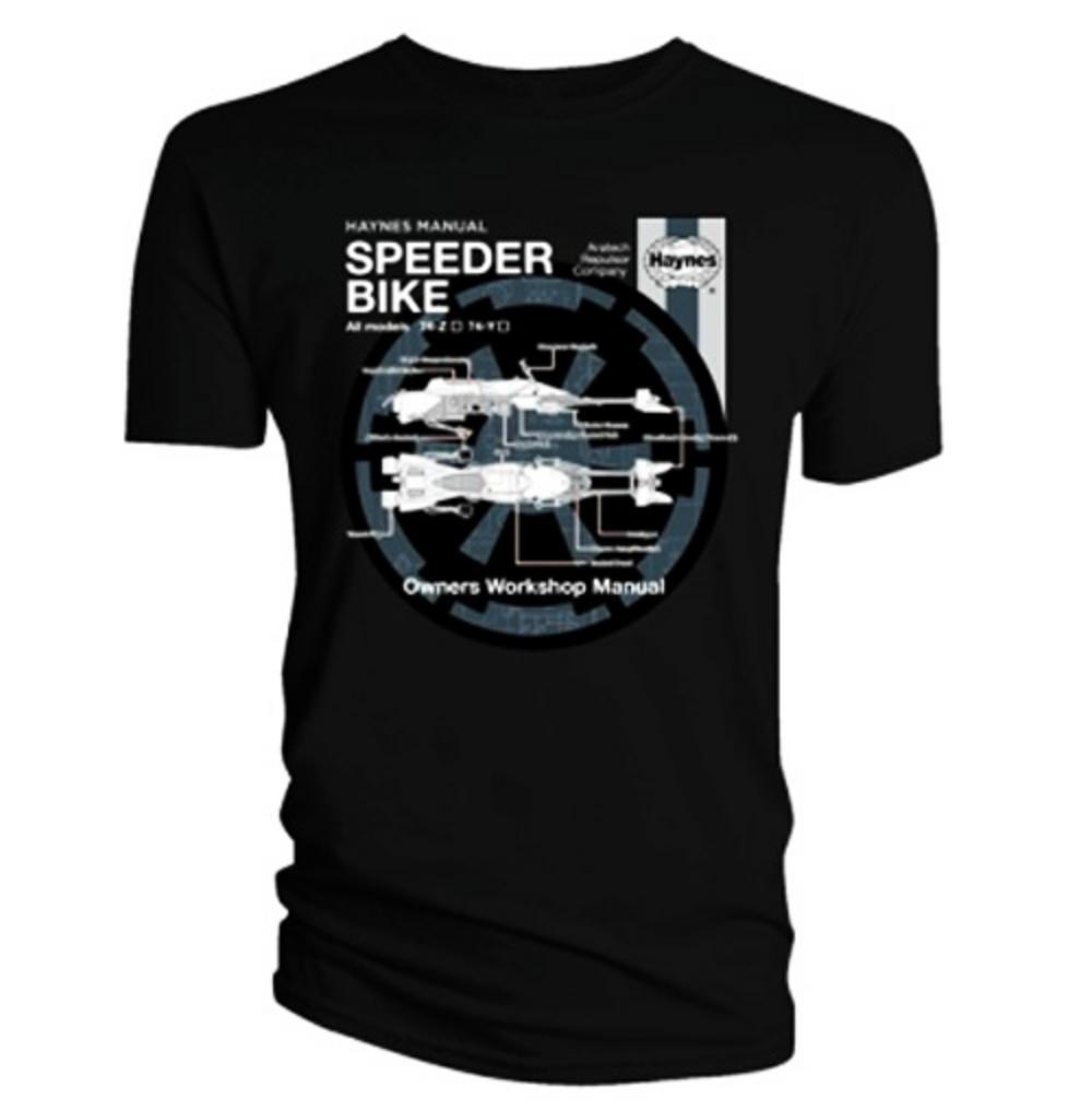 Official T Shirt Star Wars Black Speeder Bike Haynes Xxl