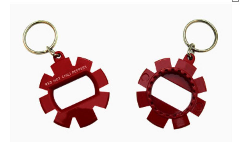 official red hot chili peppers keychain keyring metal bottle opener. Black Bedroom Furniture Sets. Home Design Ideas