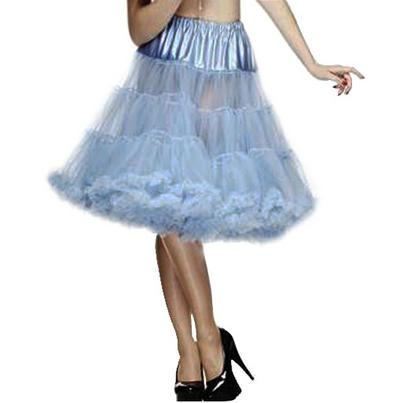 """HELL BUNNY 50s SKIRT SKY BLUE PETTICOAT AO Long 25"""" Preview"""