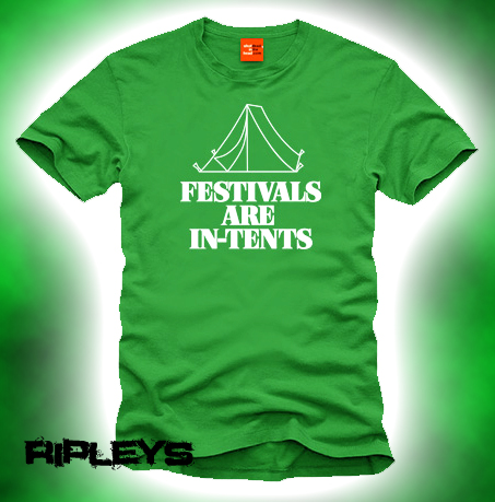 Official T Shirt SHOT DEAD IN THE HEAD Festivals Are In-Tents L