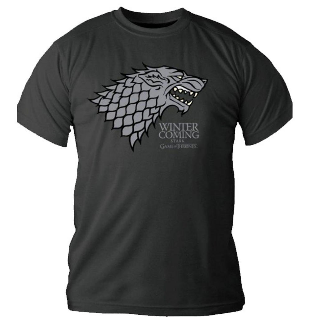 Official t shirt game of thrones logo grey house stark for Throne of games shirt