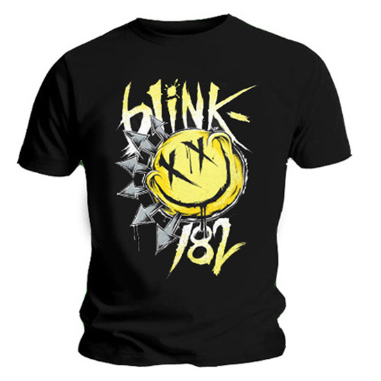 Official T Shirt BLINK 182 Black BIG SMILE Yellow All Sizes