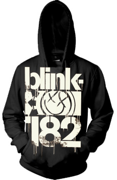 Official BLINK 182 Hoody Hoodie Logo 3 BARS Smiley All Sizes