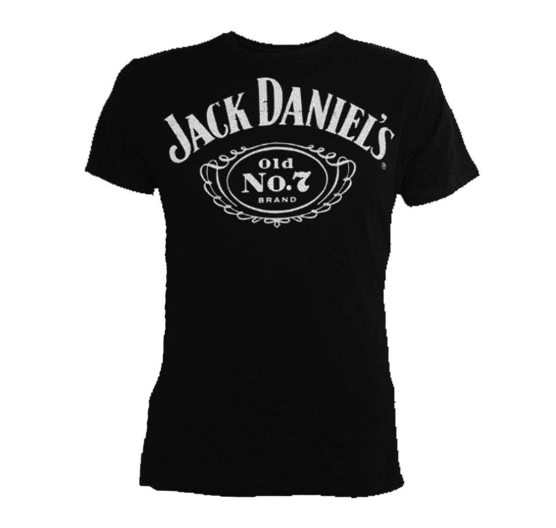 Official t shirt jack daniels classic chest logo black all for T shirt left chest logo size
