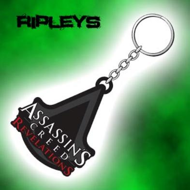Official ASSASSINS CREED Rubber Keyring REVELATIONS Logo A Gift Preview