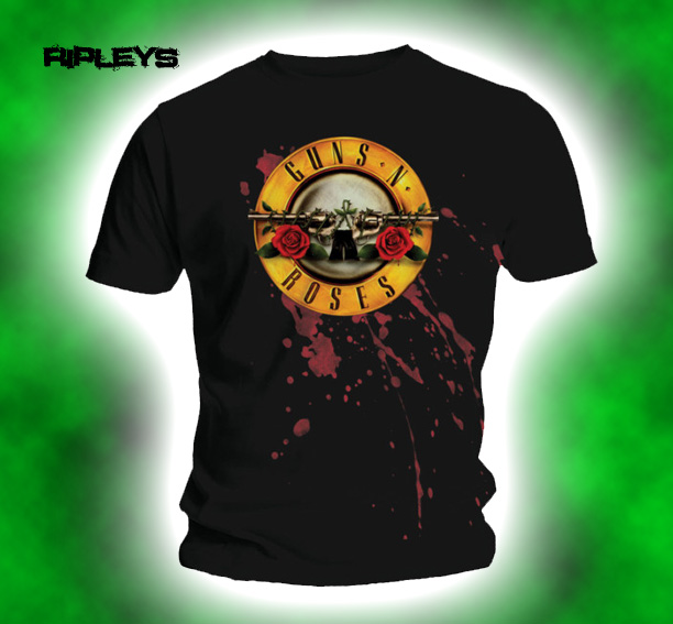Official-T-Shirt-GUNS-N-ROSES-Classic-Logo-SPLATTER-BULLET-All-Sizes