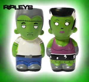 SOURPUSS Frankenstein ZOMBIE Salt n Pepper Shakers Goth GIFT