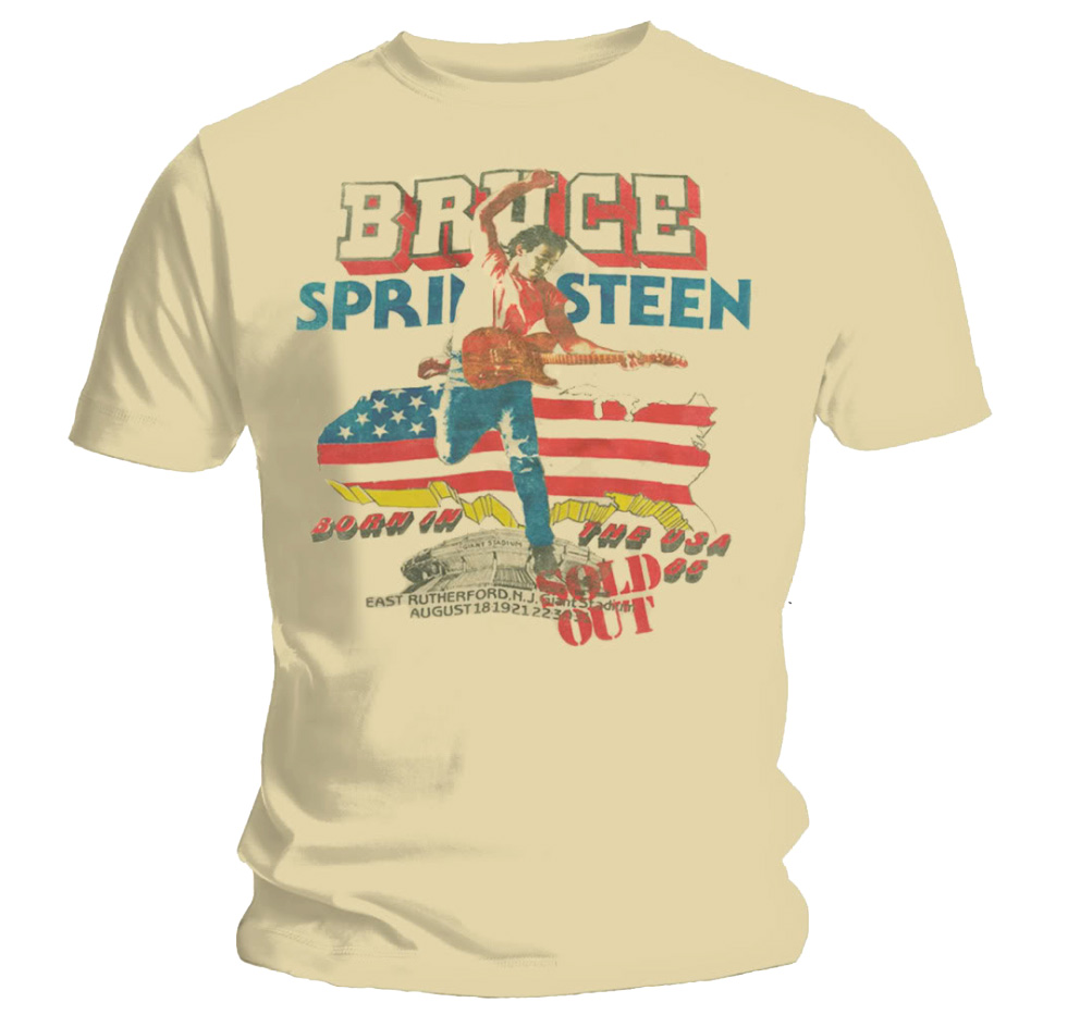 Official T Shirt BRUCE SPRINGSTEEN Sand TOUR  All Sizes