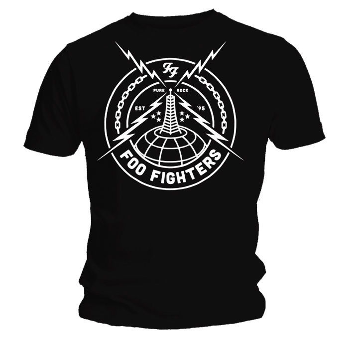 Official T Shirt FOO FIGHTERS Grohl BLACK STRIKE All Sizes