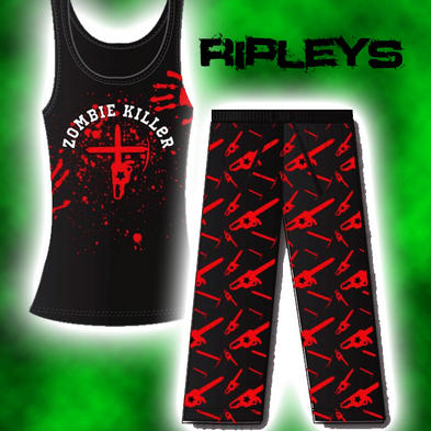 GOODIE TWO SLEEVES Skinny Lounge ZOMBIE KILLER Melee PJs