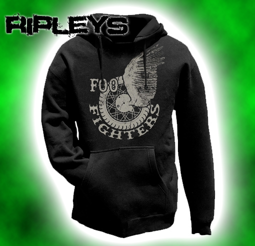 Official Hoodie Hoody FOO FIGHTERS Pullover WINGS Logo All Sizes