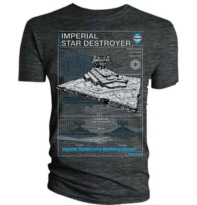 Official T Shirt Star Wars Haynes Workshop Imperial Star