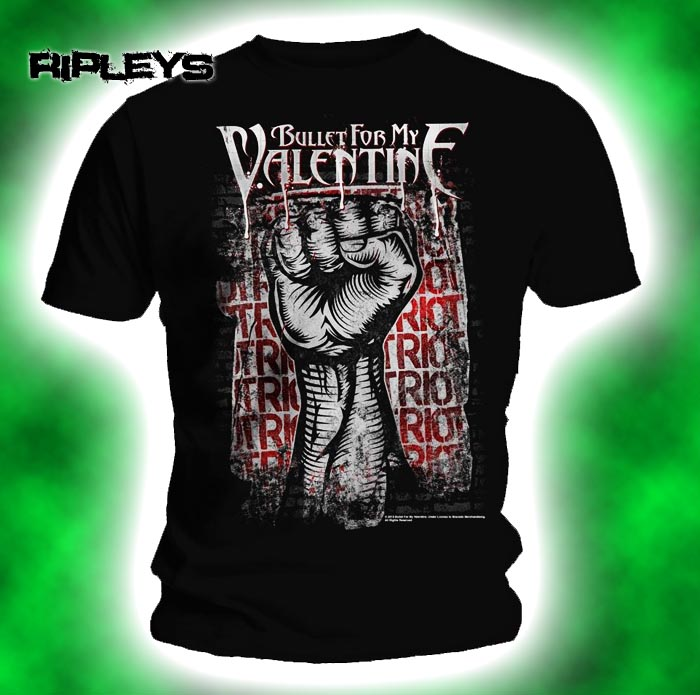 Official-T-Shirt-BULLET-for-my-VALENTINE-Poison-RIOT-Temper-Temper-All-Sizes