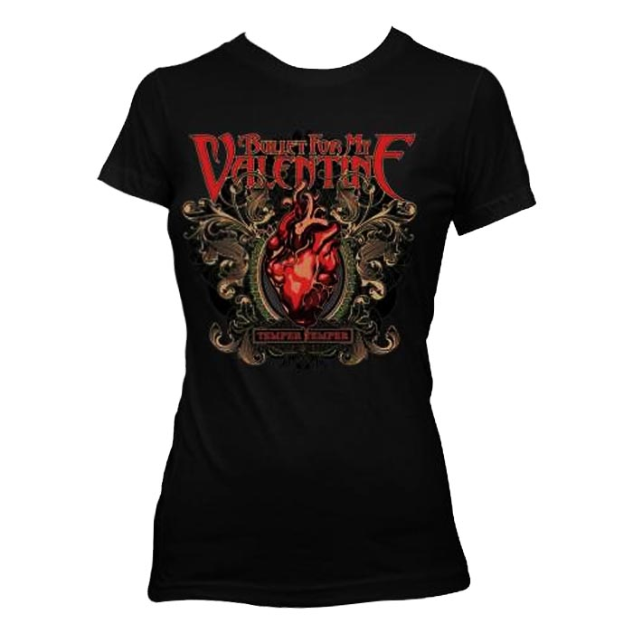 Official Skinny T Shirt BULLET FOR MY VALENTINE Temper Temper Filigree All Sizes