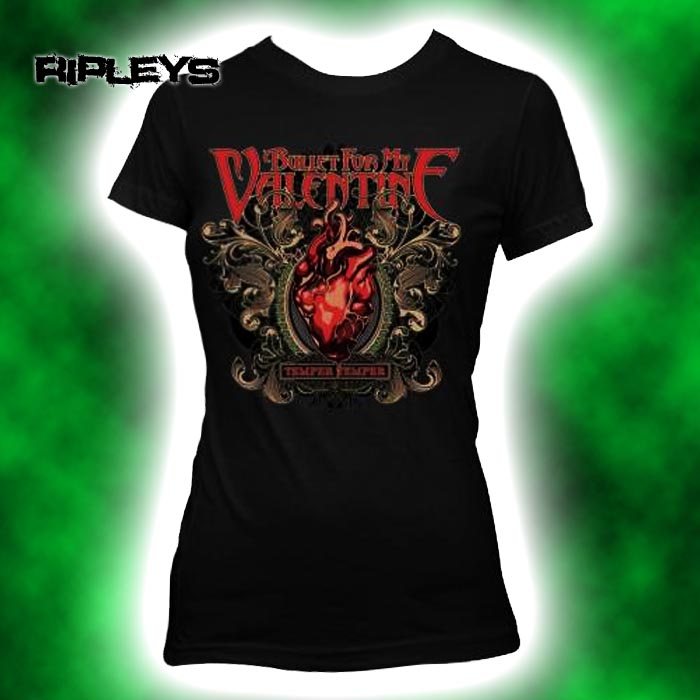 Official-Skinny-T-Shirt-BULLET-FOR-MY-VALENTINE-Temper-Temper-Filigree-All-Sizes