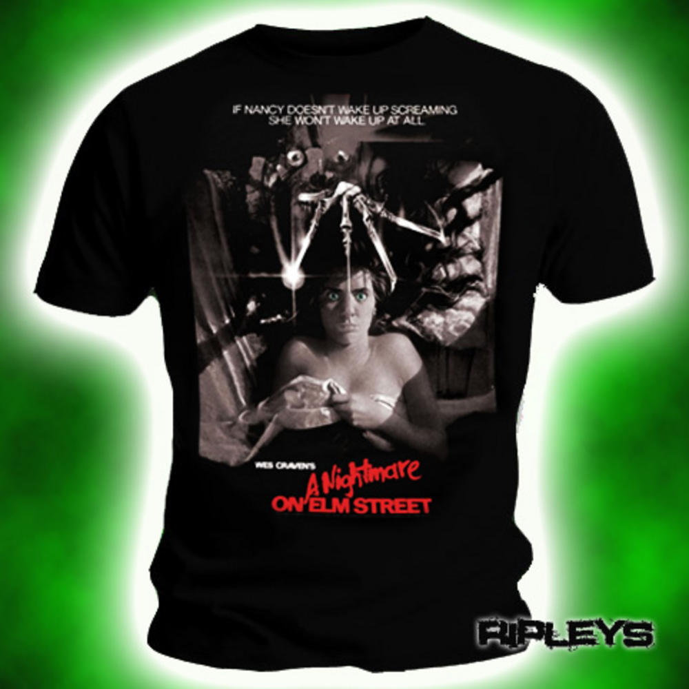 official t shirt nightmare on elm street vintage movie poster xxl. Black Bedroom Furniture Sets. Home Design Ideas