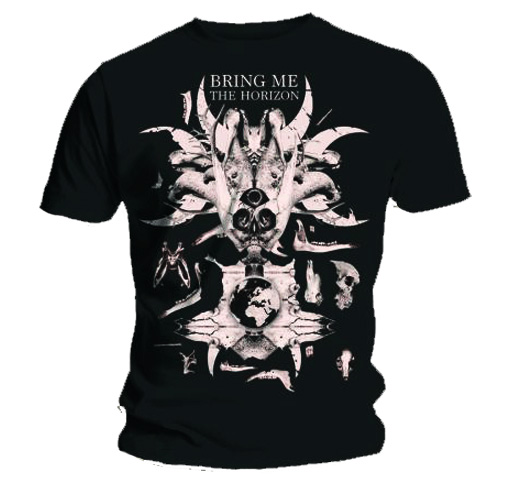 Official T Shirt BRING ME THE HORIZON Zombie Brain L