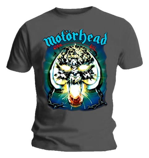 Official T Shirt MOTORHEAD Blue Logo OVERKILL GREY All Sizes