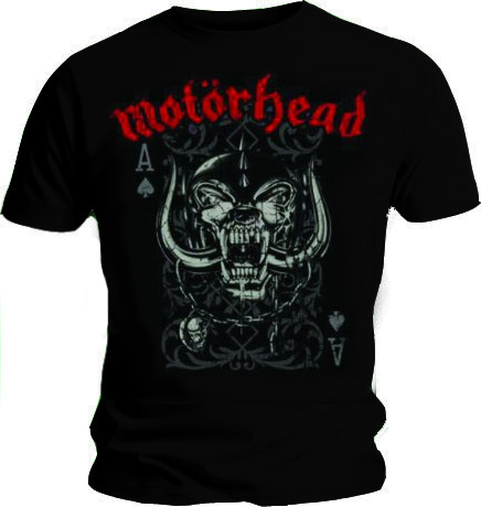 Official T Shirt MOTORHEAD Overkill PLAYING CARD Logo Vintage All Sizes