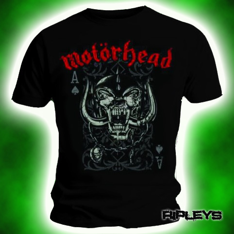 Official-T-Shirt-MOTORHEAD-Overkill-PLAYING-CARD-Logo-Vintage-All-Sizes