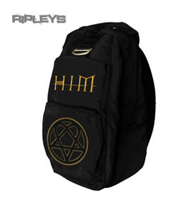 Official Back Pack Rucksack Bag HIM Heartagram GOLD Ville Valo SCHOOL Goth