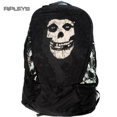 Official Back Pack Rucksack Bag MISFITS Skull Logo SCHOOL Goth