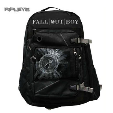 Official T Shirt FALL OUT BOY Bag Back Pack Rucksack SCHOOL Black Logo