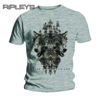 Official T Shirt BRING ME THE HORIZON Marl Grey WOLVEN 1 All Sizes