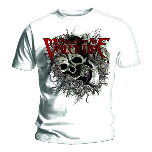 Official T Shirt BULLET for my VALENTINE Temper SKULL SWIRLS/Swirlz All Sizes