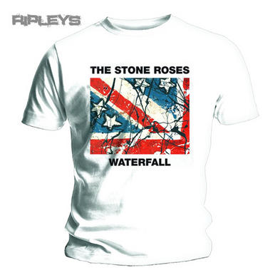 Official T Shirt THE STONE ROSES White WATERFALL Album All Sizes