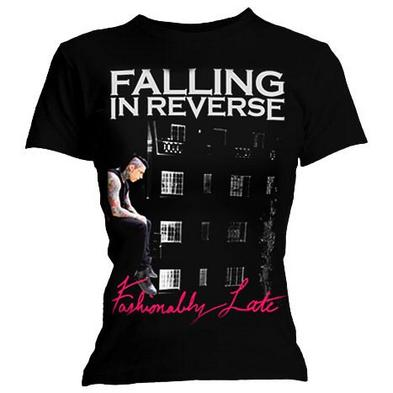 Official Skinny T Shirt FALLING IN REVERSE Album Fashionably Late All Sizes