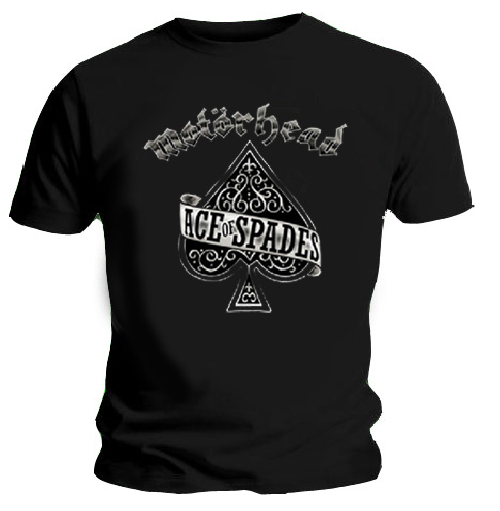 Official T Shirt MOTORHEAD Louder ACE OF SPADES All Sizes