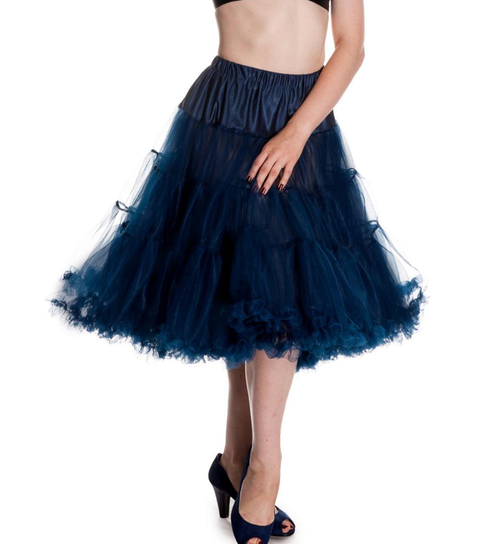 hell bunny 50s petticoat skirt sailor navy blue ao 25