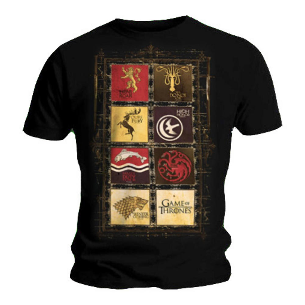 Official t shirt game of thrones stark lannister houses for Game of thrones dress shirt