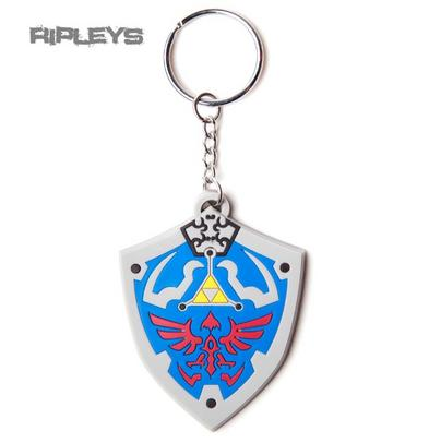 Official ZELDA Nintendo Keyring Keychain HYRULIAN CREST Shield Rubber Key Ring