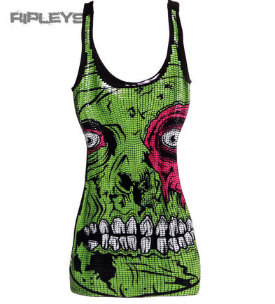 Iron Fist Ladies Party Sequin ZOMBIE CHOMPER Top Mini Dress/Tank All Sizes