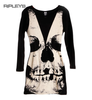 Iron Fist Ladies Goth/Punk Bodycon LOOSE TOOTH Skull Mini Dress All Sizes
