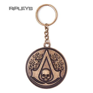 Official ASSASSINS CREED Xbox ROUND METAL Keyring Crest Skull