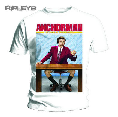 Official T Shirt ANCHORMAN Legend ORIGINAL POSTER White All Sizes