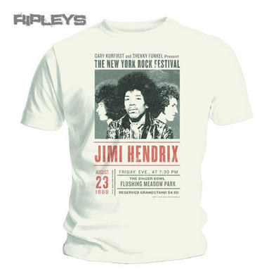 Official T Shirt JIMI HENDRIX Experience NY ROCK New York All Sizes